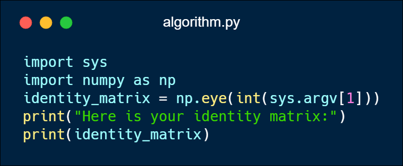 "A trivial ""algorithm"" in Python 3"