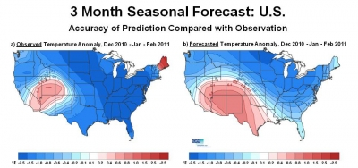 AER Seasonal Forecast map winter 2010-2011