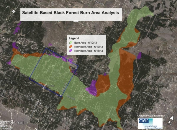 Black Forest Burn Area Analysis